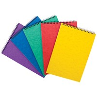 Headbound Notepad Ruled, A4, 120 Pages, Colour Assortment A, Pack of 10