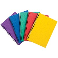 Sidebound Notebook, A5, Ruled, 120 Pages, Colour Assortment A, Pack of 10