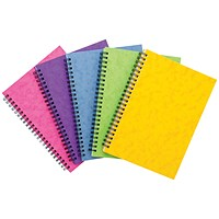 Sidebound Notebook, A5, Ruled, 120 Pages, Colour Assortment C, Pack of 10