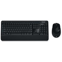 Microsoft 3050 Cordless Desktop Keyboard 128-bit Encryption & BlueTrack Optical Mouse