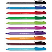 Paper Mate InkJoy 100 Ballpoint Pen, Assorted Colours, Pack of 8