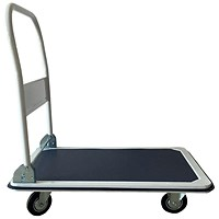 5 Star Heavy/duty Platform Truck, Capacity 300kg, Blue and Grey