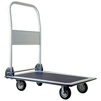 5 Star Medium/duty Platform Truck, Capacity 150kg, Blue and Grey