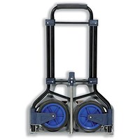 5 Star Folding Hand Trolley / Capacity 70kg / Black and Blue