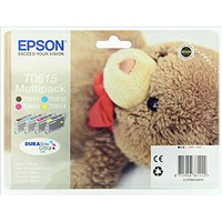 Epson T0615 Inkjet Cartridge Multipack - Black, Cyan, Magenta and Yellow (4 Cartridges)