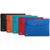 Elba A4 Bright Identity Wallets, Assorted Colours, Pack of 5