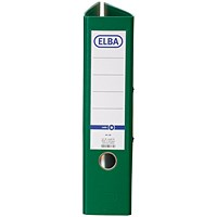 Elba A4 Lever Arch Files, 80mm Spine, Green, Pack of 10
