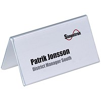 Durable Inserts for Duraprint Table Place Name Holders, 52x100mm, Pack of 40