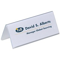 Durable Inserts for Duraprint Table Place Name Holders, 63x150mm, Pack of 40