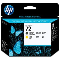 HP 72 Matte Black/Yellow Printhead