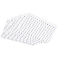 5 Star Record Cards, Ruled Both Sides, 152x102mm, White, Pack of 100