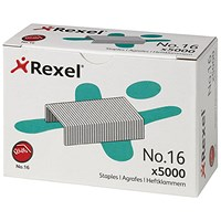 Rexel No. 16 Staples (6mm) - Pack of 5000