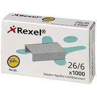 Rexel No. 56 Staples (26/6mm) - Box of 5000