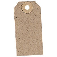 Unstrung Tags, 70x35mm, Buff, Pack of 1000