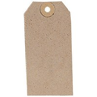 Unstrung Tags, 96x48mm, Buff, Pack of 1000