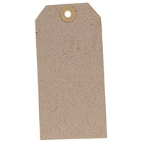 Unstrung Tags, 120x60mm, Buff, Pack of 1000