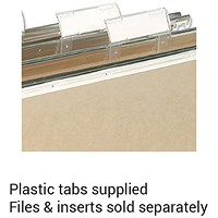 Elba VerticFiles Suspension File Tabs, Clear, Pack of 50