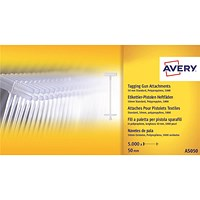 Avery Tagging Gun Attachments, Polypropylene with Paddles, 40mm, AS040, Pack of 5000