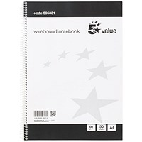 Everyday Wirebound Notebook, A4, Ruled, 100 Pages, Pack of 10