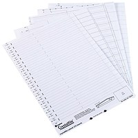 Rexel CrystalFiles Classic Lateral File Insert Cards, White, Pack of 50