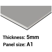 Foamboard, A1, Black & Grey, 5mm Thick, Box of 10