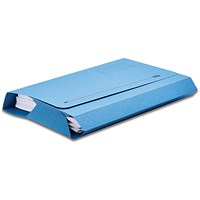 Elba Full Flap Probate Wallets, Manilla, 285gsm, Foolscap, Blue, Pack of 25