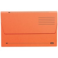 Elba Document Wallets Half Flap / 285gsm / Foolscap / Orange / Pack of 50