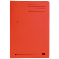 Elba Stratford Pocket Transfer Files, 320gsm, Foolscap, Red, Pack of 25