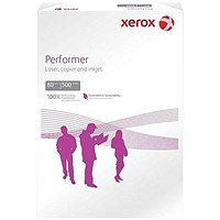 Xerox Performer A4 Multifunctional Paper, White, 80gsm, Ream (500 Sheets)