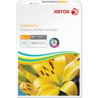 Xerox Colotech+ A4 Premium Copier Paper, White, 160gsm, 250 Sheets
