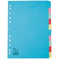 Elba Subject Dividers, Extra Wide, 10-Part, A4, Assorted