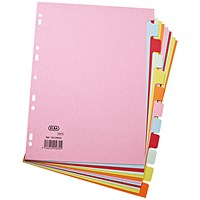 Elba Subject Dividers, 12-Part, A4, Assorted