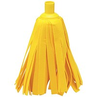 Addis Cloth Mop Head Refill, Thick Absorbent Strands, Yellow