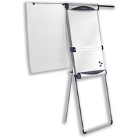 Nobo Piranha Flipchart Easel, Magnetic, Extending Display Arms
