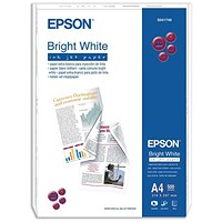 Epson A4 Inkjet Paper, Bright White, 90gsm, Ream (500 Sheets)