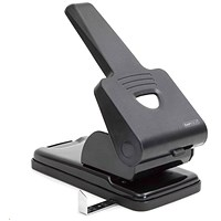 Rapesco 865P Extra Heavy-duty 2-Hole Punch, Black, Punch capacity: 63 Sheets