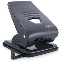 Rapesco 835M Heavy-duty 2-Hole Punch, Black, Punch capacity: 40 Sheets