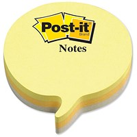 Post-it Speech Bubble Notes, Yellow & Grey, 225 Notes