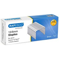Rapesco 13/6 Tacker Staples - Pack of 5000