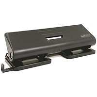 Rapesco 75P 4-Hole Punch, Black, Punch capacity: 16 Sheets