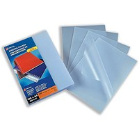 GBC PVC Binding Covers, 200 micron, Tinted, Frosted, A4, Pack of 100
