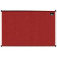 Nobo Classic Noticeboard, Felt, Aluminium Trim, W1200xH900mm, Red