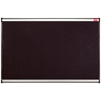 Nobo Prestige Noticeboard, High-density Foam, Aluminium Trim, W900xH600mm, Black