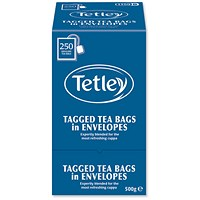 Tetley High Quality Tagged Envelope Tea Bags - Pack of 250