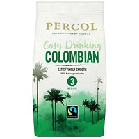 Percol Fairtrade Colombia Medium Roasted Ground Coffee - 200g
