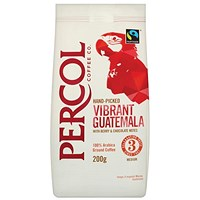 Percol Fairtrade Guatamala Medium Roasted Ground Coffee - 200g