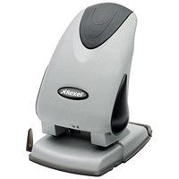 Rexel Precision P265 Heavy-duty 2-Hole Punch, Silver and Black, Punch capacity: 65 Sheets