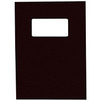 GBC Binding Covers with Window, 250gsm, Black, A4, Leathergrain, Pack of 25 Pairs