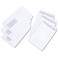 Everyday C5 Pocket Envelopes, Window, White, Press Seal, 100gsm, Pack of 500