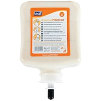 DEB Universal Pre-Work Protect Hand Cream, Refill Cartridge, 1 Litre